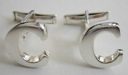 alphabet cuff linkscufflinks letter c
